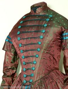 1840s silk dress