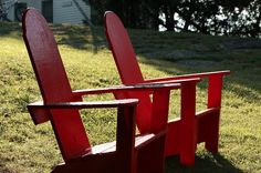 Basin Harbor Club and Resort signature adirondack chairs. Vermont design and Vermont made. LOVE!!