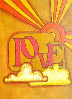 Vintage 1960's Love Illustration