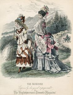 September Fashions for not Falling Off of a Cliff. #1874 #1870s #England #VBT