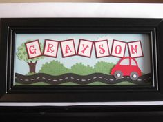 cricut name frame