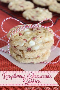 4    ounces    cream cheese  1/2    cup    butter flavored Crisco ( shortening )  1/2    cup    brown sugar  1    egg ( large )  1/2    teaspoon    vanilla extract  14    ounces    raspberry muffin mix ( Jiffy )  1/2    cup    all-purpose flour  1    cup    white chocolate chips