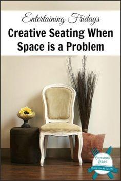 Great ideas for entertaining! http://celebrateeverydaywithme.com/2014/06/creative-seating-space-problem-entertaining-fridays-4.html