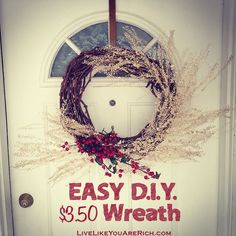 My kind of craft. Easy, fast to make and beautiful...not to mention inexpensive.