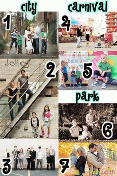 cute urban family photo ideas
