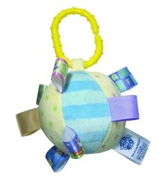 """Taggies Fun Shapes Toss Plush Toy by Taggies, Inc.. $10.99. 100% polyester. Machine wash warm, tumble dry low, do not iron. Ideal baby item; unique patented tags stimulate interactive with any child. Taggies fun shapes toss:  3"""" diameter; easy to attach to anything, baby will love to roll and rattle our terrific """"take it with you"""" ball.  Taggies are based on the idea that babies and kids love to rub satin edges, clothing labels and tags. Our products are focused on early chil..."""