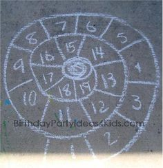 Great list of sidewalk chalk games