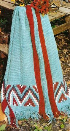 SOUTHWESTERN Indian Stripes Afghan/Crochet Pattern Instructions  SOUTHWESTERN Indian Stripes Afghan/Crochet Pattern Inst...