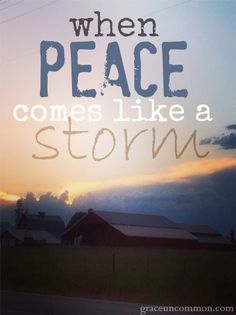 Peace doesn't come in ease and quiet, sometimes it comes like a storm. Find out how you can allow the storm to make you stronger, braver and better.