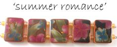 TBT - summer romance tile beads polymer clay from 2007.