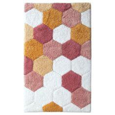 "Room Essentials® Hexagon Bath Rug - Pink (20x34"")"