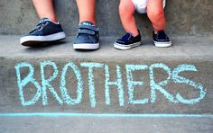 """brothers picture - for brother and sister you can use   """"US"""", or something else. Get creative and use cuter shoes....."""
