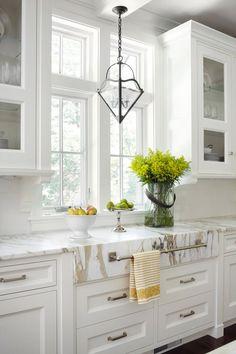 """Calacatta Gold"" marble countertops #marble #kitchen"