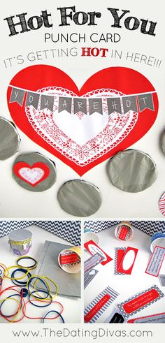 A Valentine's Punch Poster- he has to punch each circle to reach through and find the surprise.  FUN idea!