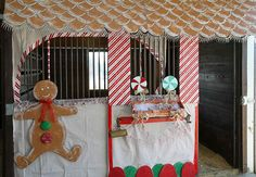Horse stall decorations which can be overdone if not careful.