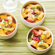 Tropical Fruit Salad with Sriracha-Sesame Vinaigrette:  The Tropical Fruit Salad with Sriracha-Sesame Vinaigrette in 'salads and sides' chapter sounds perfect to fire up a Mothers Day lunch without too much work.