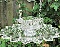 Vintage Glassware Bird Feeder