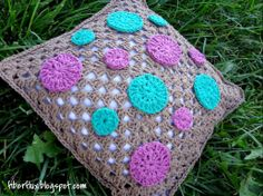 Fiber Flux...Adventures in Stitching: Free Crochet Pattern...Dotty Throw Pillow!