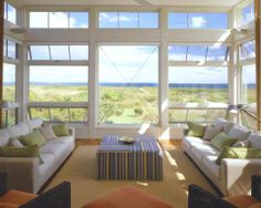Coastal Decor Ideas, Nautical & Beach Decorating & Crafts: Living Rooms