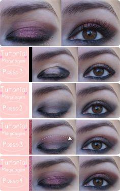 Tutorial de Maquiagem super fácil estilo Vamp! http://icandy.com.br/blog/tutorial-facil-maquiagem-vamp-passo-a-passo/