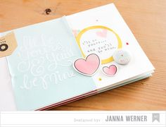 Janna Werner: Scrapbooking Mini Album | with American Crafts'  Amy Tangerine and Dear Lizzy collections