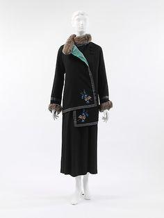 Paul Poiret  1912, silk, wool, fur, cotton.