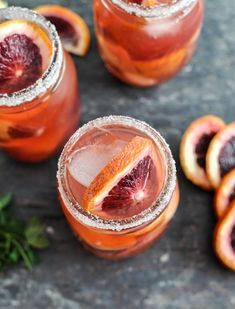 blood orange sangria ~