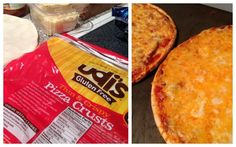 Cheesey pizza on Udi's Gluten Free Pizza Crust