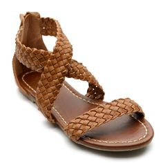Ollio Women's Cross Braided Flat Sandal Shoes $13.99