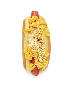 Mac and Cheese Dog. Lucas would LOVE this... ;)