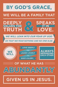 great graphic design and family mission statement!