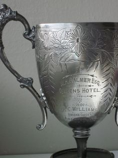 Antique silver trophy