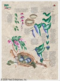 FolkArt ® One Stroke™ Worksheet Packs - Garden Friends #Plaidonline.com #ChristmasCraftWishList