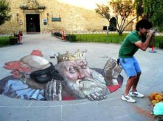 3D Chalk Art ... Sidewalk Street Art