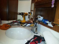 Motorhome - Another picture of the new bathroom Faucet