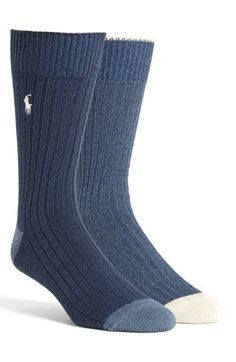 Polo Ralph Lauren Ribbed Socks available at #Nordstrom