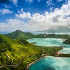 Beautiful helicopter shot! St. Kitts, West Indies