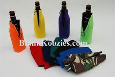 Blank Zipper Bottle Coolies