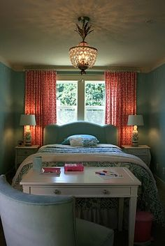 guest room, I love these colors