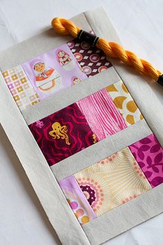 Modern quilt Square. Sewing.