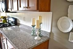 HOW TO bead board back splash for kitchen