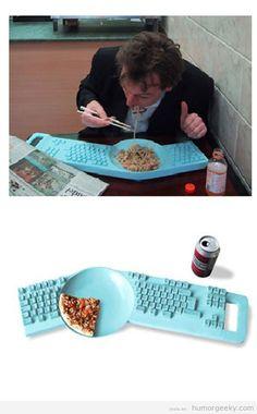 Humor geeky |Teclado plato - ha!