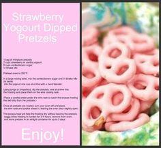 Strawberry Yogurt Dipped Pretzels