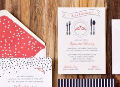 Nautical Wedding Invitations by Suite Paperie via Oh So Beautiful Paper (3)