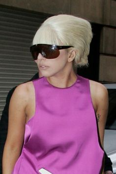Lady Gagas latest London hairstyles