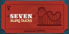 I won the limited edition 7 Swag Buck Bill at Swagbucks #swagbucks