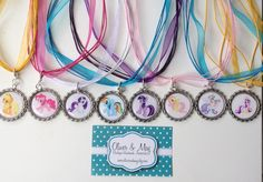 8 Boutique Bottlecap Necklace My Little Pony Birthday Party Favors