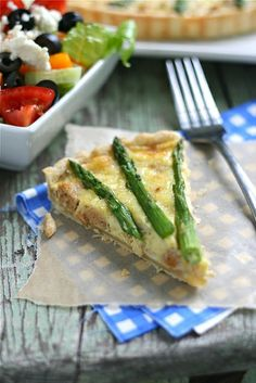 Chicken Sausage and Asparagus Quiche - from: http://www.laurenslatest.com/chicken-sausage-and-asparagus-quiche-a-giveaway/