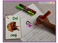 Put those flashcards to use in your writing lab.  Students can use them a story starter!  See what else is going on inside my writing lab at Simply Kinder!