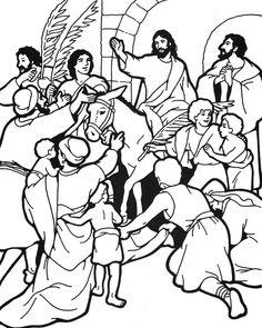 Jesus Bible coloring page